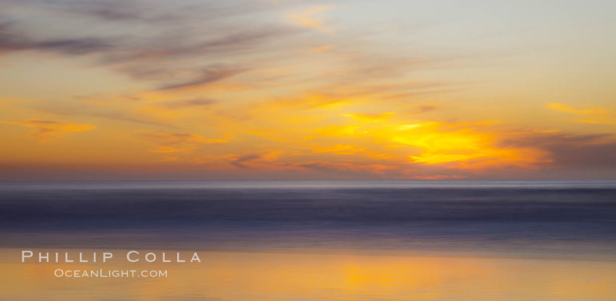 Leucadia sunset, beautiful clouds and soft colors, Carlsbad, California