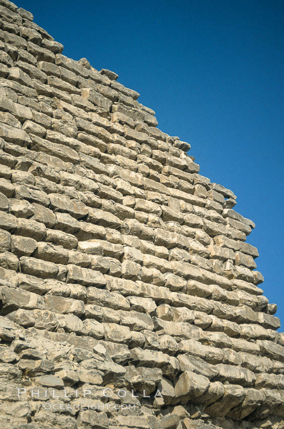 Step pyramid of Djoser (Zoser), detail. Saqqara, Egypt, natural history stock photograph, photo id 02576