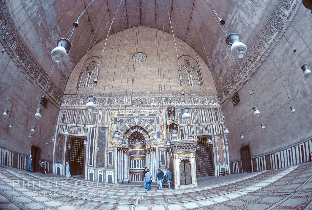 Sultan Hassan Mosque, interior. Cairo, Egypt, natural history stock photograph, photo id 18492