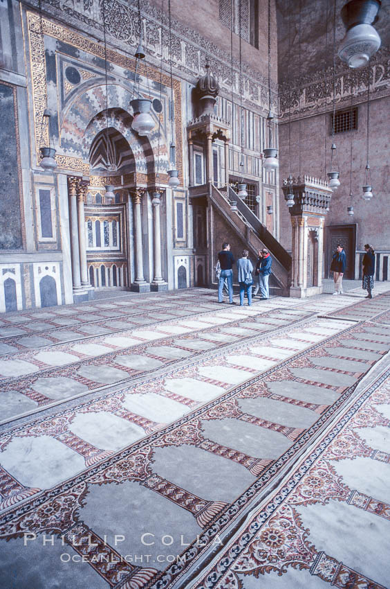 Sultan Hassan Mosque, interior. Cairo, Egypt, natural history stock photograph, photo id 18493