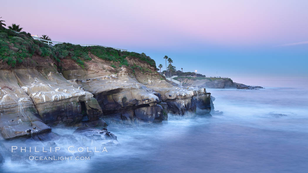 Earth Shadow lies over Point La Jolla at dawn