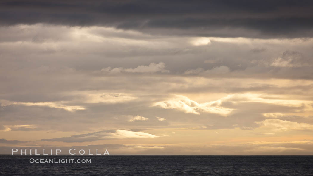 Sunrise in the South Shetland Islands, near Deception Island