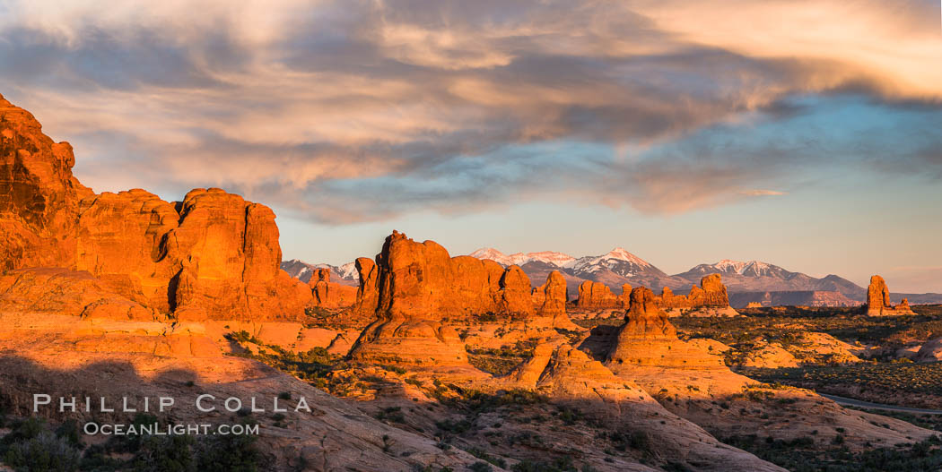 Sunset Over The Garden Of The Gods Arches National Park Utah Natural History Photography Blog