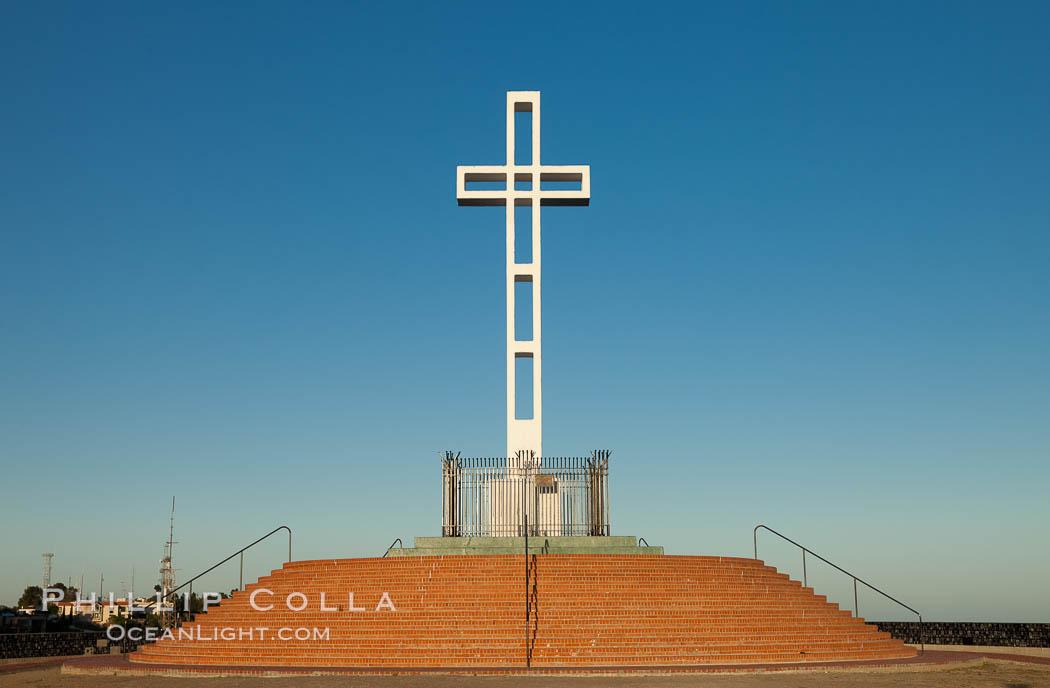 The Mount Soledad Cross, a landmark in La Jolla, California. The Mount Soledad Cross is a 29-foot-tall cross erected in 1954