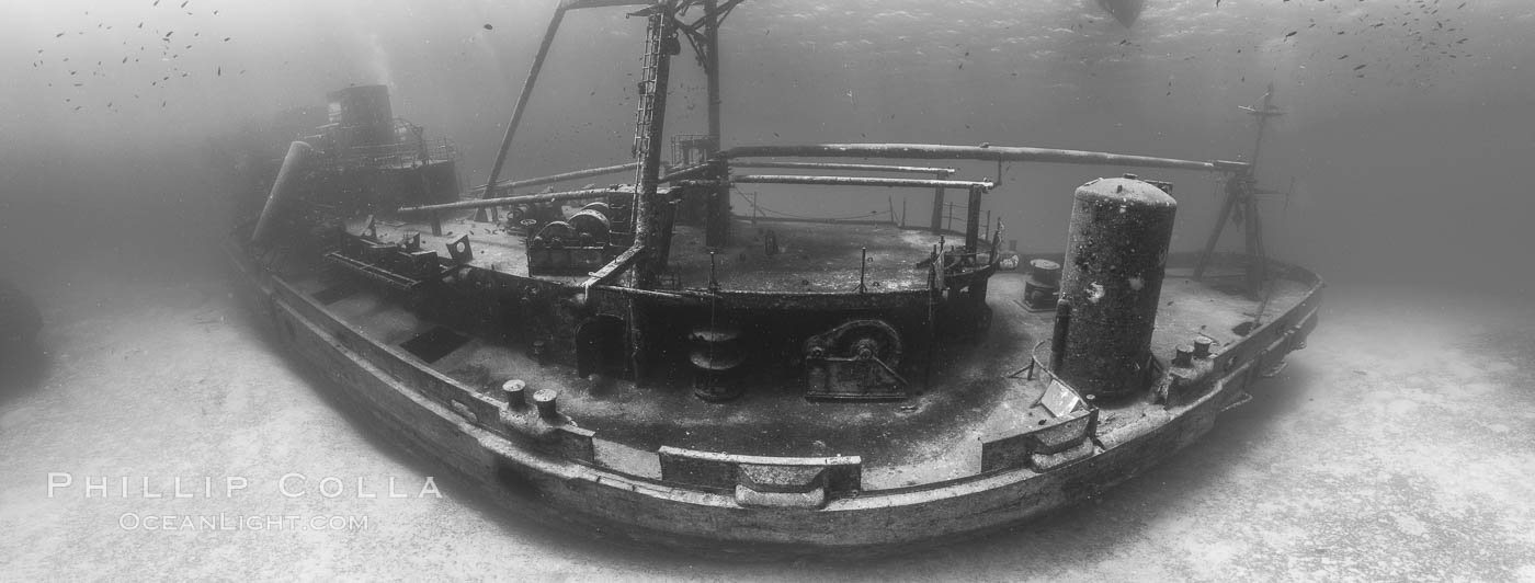 USS Kittiwake wreck, sunk off Seven Mile Beach on Grand Cayman Island to form an underwater marine park and dive attraction., natural history stock photograph, photo id 32143