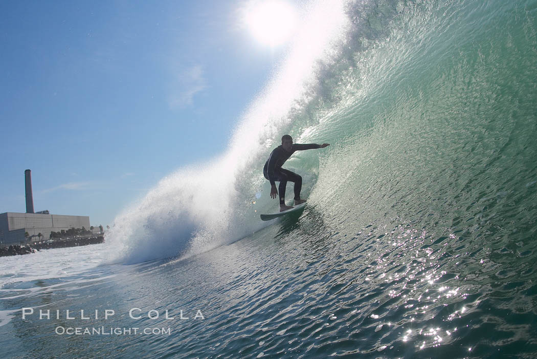 Kyle Cannon, Jetties, Carlsbad, morning surf.,  Copyright Phillip Colla, image #17906, all rights reserved worldwide.
