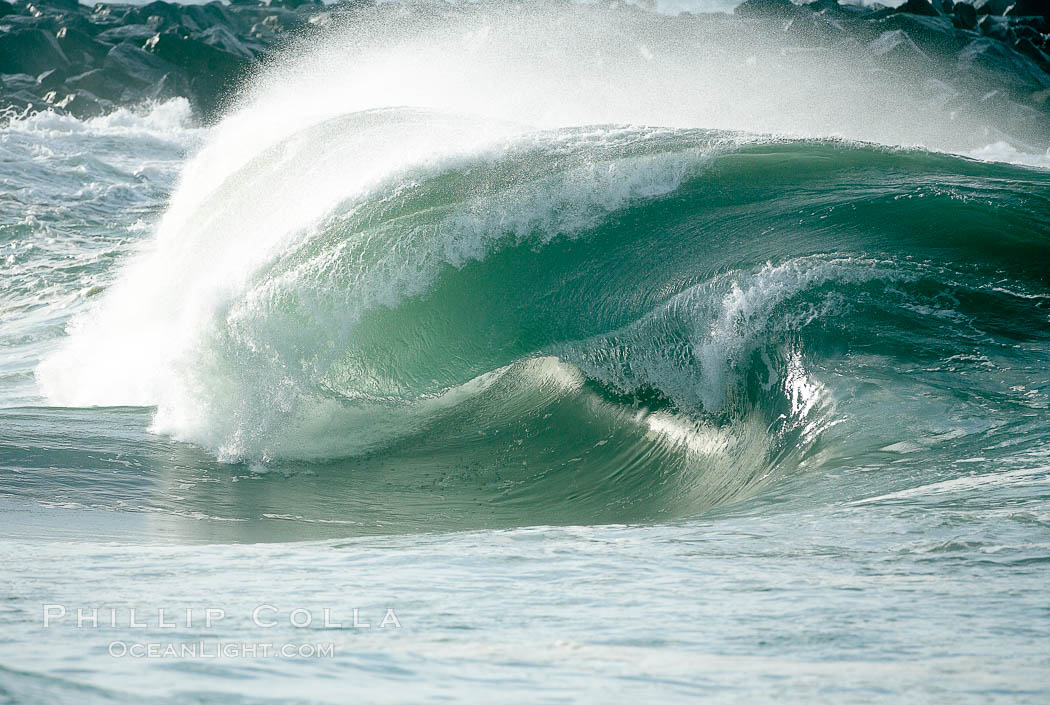 Ugly wave, the Wedge, The Wedge, Newport Beach, California