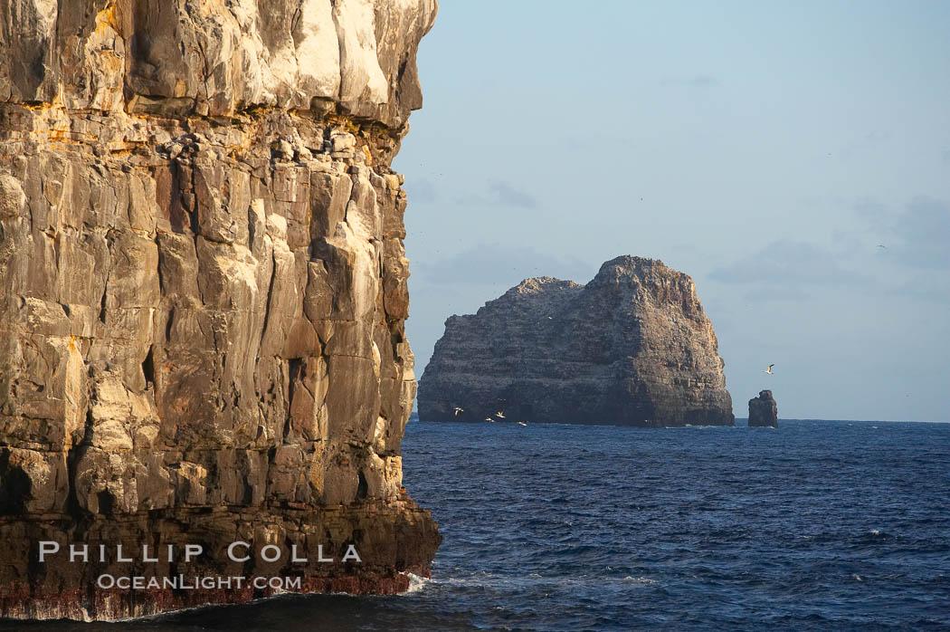Seacliffs, home of many seabirds. Wolf Island, Galapagos Islands, Ecuador, natural history stock photograph, photo id 16633
