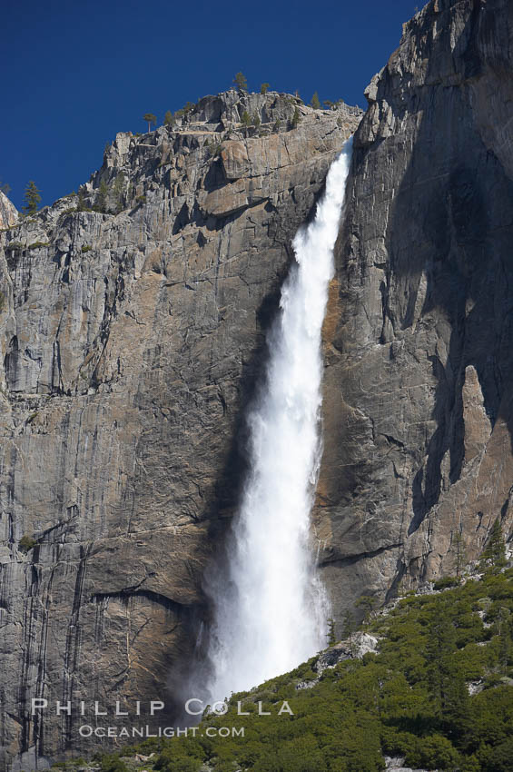 Yosemite Falls at peak flow, spring, Yosemite Valley. Yosemite Falls, Yosemite National Park, California, USA, natural history stock photograph, photo id 16139