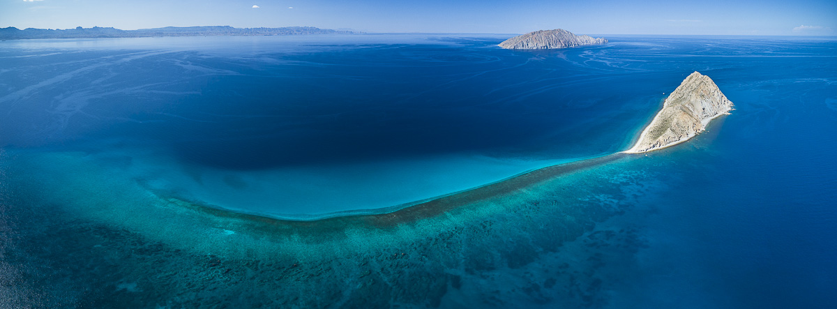 Natural History Photography, Aerial view of the Sea of Cortez, Mexico