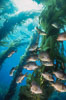 Black perch in kelp forest. San Clemente Island, California, USA. Image #04813