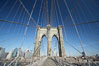 Brooklyn Bridge cables and tower. Brooklyn Bridge, New York City, New York, USA. Image #11070
