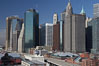 Lower Manhattan skyline viewed from the Brooklyn Bridge. Manhattan, New York City, New York, USA. Image #11091