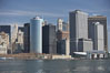 Lower Manhattan skyline viewed from the Brooklyn Bridge. Manhattan, New York City, New York, USA. Image #11096