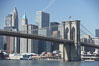 Lower Manhattan and Brooklyn Bridge, viewed from the East River. Manhattan, New York City, New York, USA. Image #11118