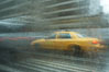 Crazy taxi ride through the streets of New York City. Manhattan, USA. Image #11195