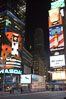 Neon lights fill Times Square at night. New York City, USA. Image #11206