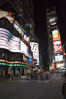 Neon lights fill Times Square at night. New York City, USA. Image #11209