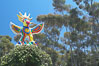 Sun God is a strange artwork, the first in the Stuart Collection at University of California San Diego (UCSD).  Commissioned in 1983 and produced by Niki de Sainte Phalle, Sun God has become a landmark on the UCSD campus. University of California, San Diego, La Jolla, USA. Image #12835