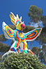 Sun God is a strange artwork, the first in the Stuart Collection at University of California San Diego (UCSD).  Commissioned in 1983 and produced by Niki de Sainte Phalle, Sun God has become a landmark on the UCSD campus. University of California, San Diego, La Jolla, USA. Image #12836