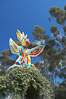 Sun God is a strange artwork, the first in the Stuart Collection at University of California San Diego (UCSD).  Commissioned in 1983 and produced by Niki de Sainte Phalle, Sun God has become a landmark on the UCSD campus. University of California, San Diego, La Jolla, USA. Image #12837