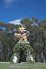 Sun God is a strange artwork, the first in the Stuart Collection at University of California San Diego (UCSD).  Commissioned in 1983 and produced by Niki de Sainte Phalle, Sun God has become a landmark on the UCSD campus. University of California, San Diego, La Jolla, USA. Image #12839