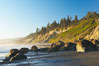 Ruby Beach, sunset. Ruby Beach, Olympic National Park, Washington, USA. Image #13810
