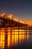 Oceanside Pier at dusk, sunset, night.  Oceanside. California, USA. Image #14633