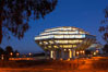 UCSD Library glows at sunset (Geisel Library, UCSD Central Library). University of California, San Diego, La Jolla, USA. Image #14780