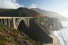 Bixby Bridge at sunset. Big Sur, California, USA. Image #14902