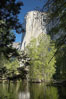 El Capitan rises above the Merced River, Yosemite Valley. Yosemite National Park, California, USA