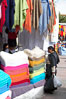 Otavalo market, a large and famous Andean market high in the Ecuadorian mountains, is crowded with locals and tourists each Saturday. San Pablo del Lago. Image #16795