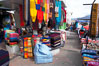Otavalo market, a large and famous Andean market high in the Ecuadorian mountains, is crowded with locals and tourists each Saturday. San Pablo del Lago. Image #16796