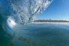 Cardiff surf, breaking wave, morning. Cardiff by the Sea, California, USA. Image #17660