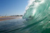 Backlit wave, the Wedge. The Wedge, Newport Beach, California, USA. Image #17714