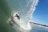 Mike Thomas, Cardiff, morning surf. Cardiff by the Sea, California, USA. Image #17877