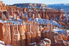 Bryce Canyon hoodoos line all sides of the Bryce Amphitheatre. Bryce Canyon National Park, Utah, USA. Image #18617