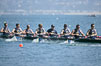 Cal (UC Berkeley) on their way to winning the men's JV final, 2007 San Diego Crew Classic. Mission Bay, California, USA. Image #18641