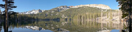 Panorama of Horseshoe Lake in the Mammoth Lakes basin, early morning. California, USA. Image #19124