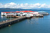 Pier 39, former site of Bumblebee Tuna cannery, now a tourist attraction. Columbia River, Astoria, Oregon, USA. Image #19382