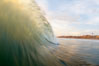 Sunset wave. Ponto, Carlsbad, California, USA. Image #19399