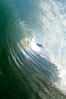Breaking wave, tube, hollow barrel, morning surf. Image #19540
