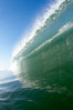 Breaking wave, tube, hollow barrel, morning surf. Image #19553