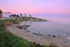 La Jolla Cove meets the dawn with pink skies and a flat ocean. La Jolla, California, USA. Image #20251