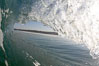 Dawn patrol morning surf, hollow wave. Cardiff by the Sea, California, USA. Image #20802