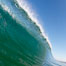 Cresting wave, morning light, glassy water, surf. Cardiff by the Sea, California, USA. Image #20813