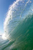 Cresting wave, morning light, glassy water, surf. Cardiff by the Sea, California, USA. Image #20819