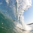 Cresting wave, morning light, glassy water, surf. Cardiff by the Sea, California, USA. Image #20821