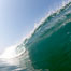 Breaking wave, morning surf, curl, tube. Ponto, Carlsbad, California, USA. Image #20885