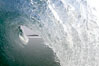 Breaking wave, morning surf, curl, tube. Ponto, Carlsbad, California, USA. Image #20888